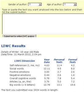 LIWC free version