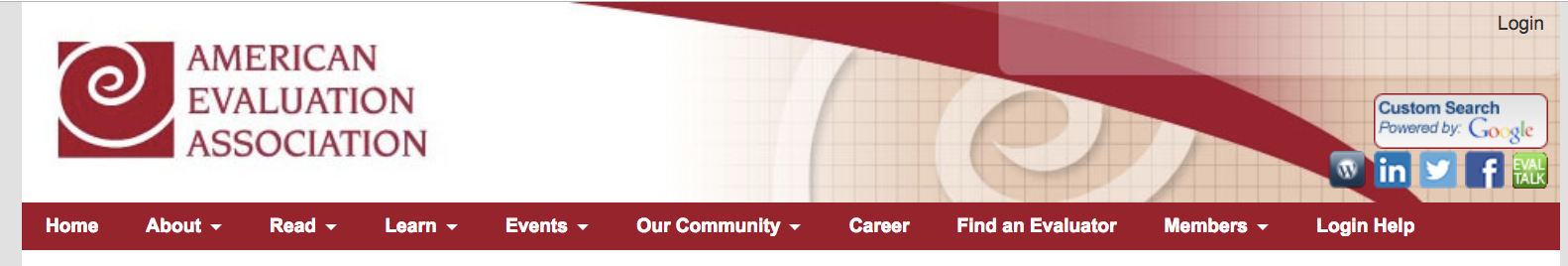 AEA website home page menu items
