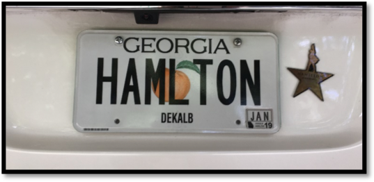 HAMLTON Georgia license plate