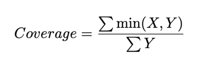 coverage equation