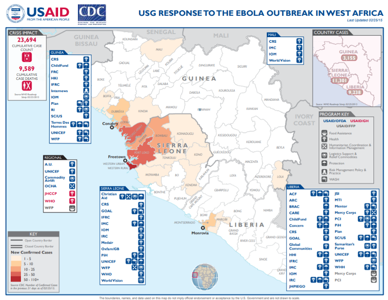 USAID Ebola map