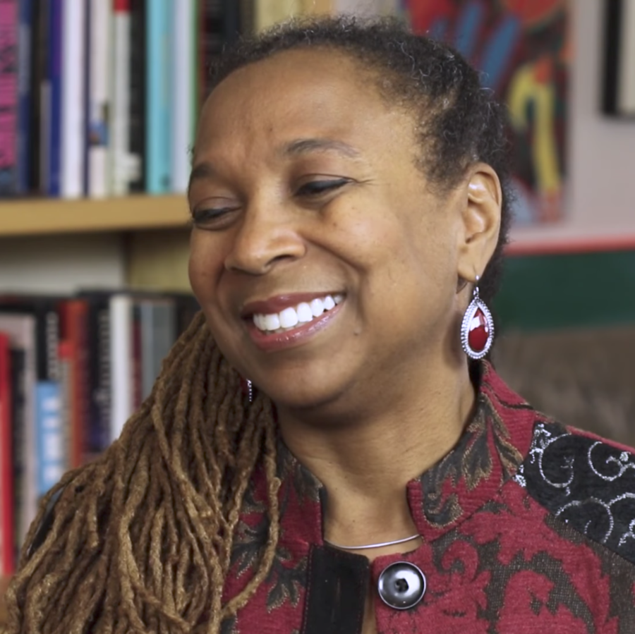 Kimberlé Crenshaw: An American lawyer, civil rights leader, critical race and gender theory scholar, and originator of the theory of intersectionality.