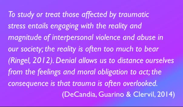 DeCandia, Guarino & Clervil quote (2014)