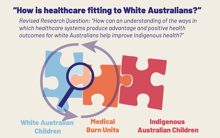How is healthcare fitting to White Australians?