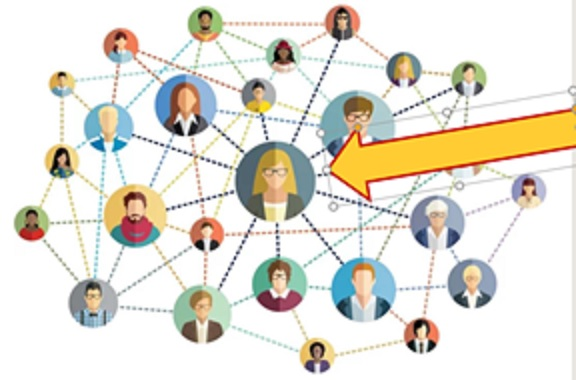 Illustration of a social network map