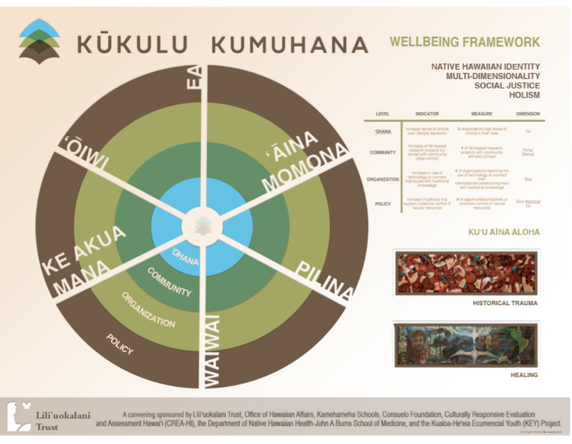 Image of a wellbeing framework diagram