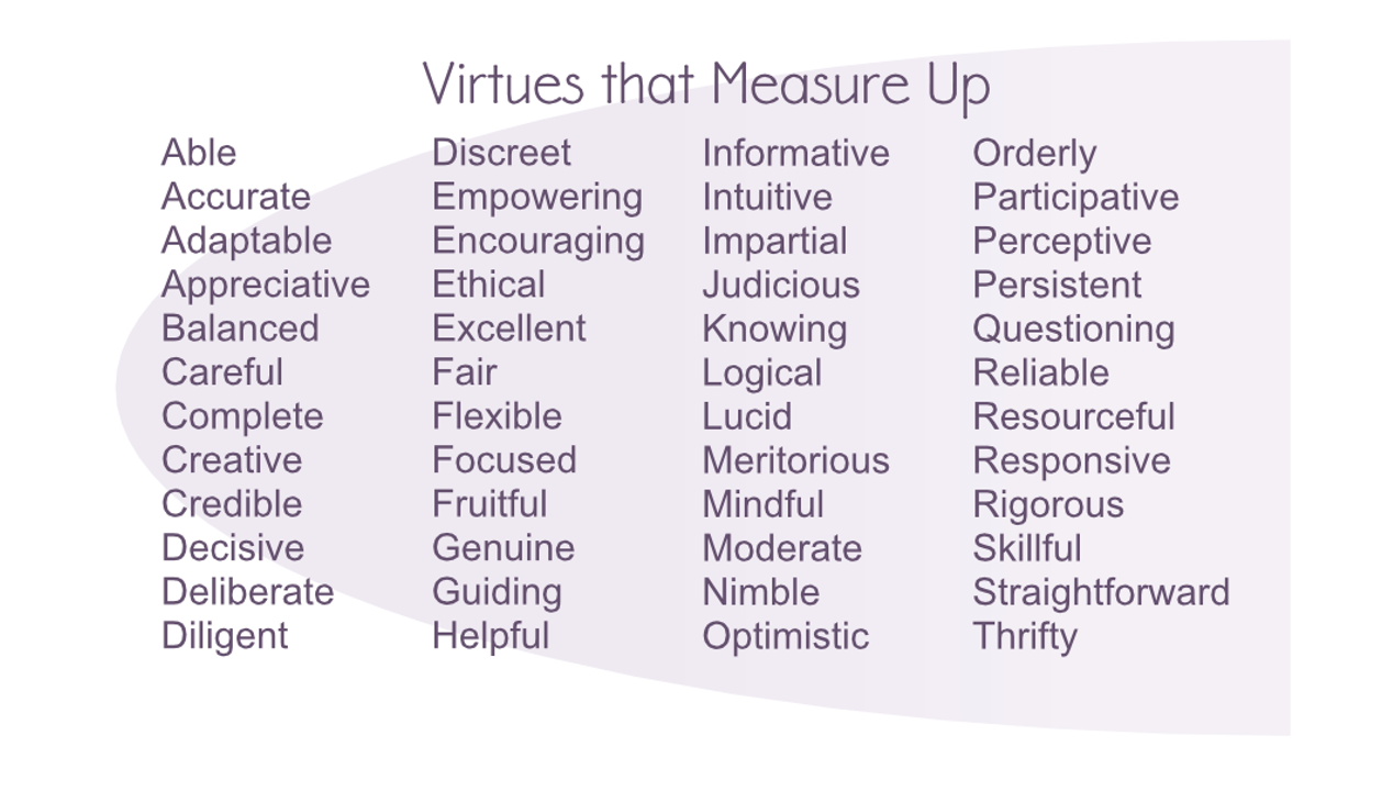 Image of the 100 Virtues that Measure Up