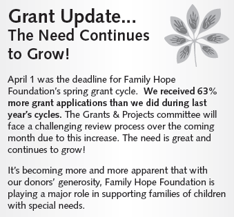The Family Hope Foundation increase in scholarships