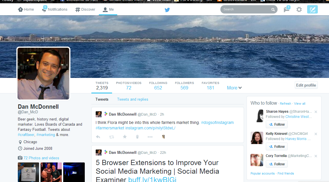 Dan McDonnell On Setting Up Your New Twitter Profile Page
