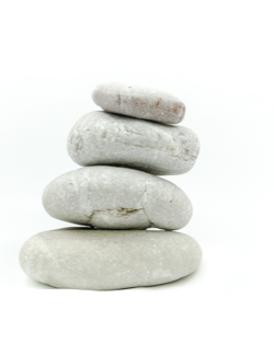 stack of white smooth stones