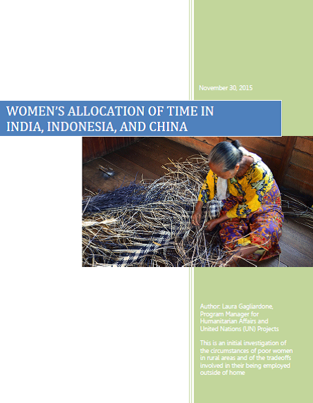 Women's Allocation of Time in India, Indonesia and China