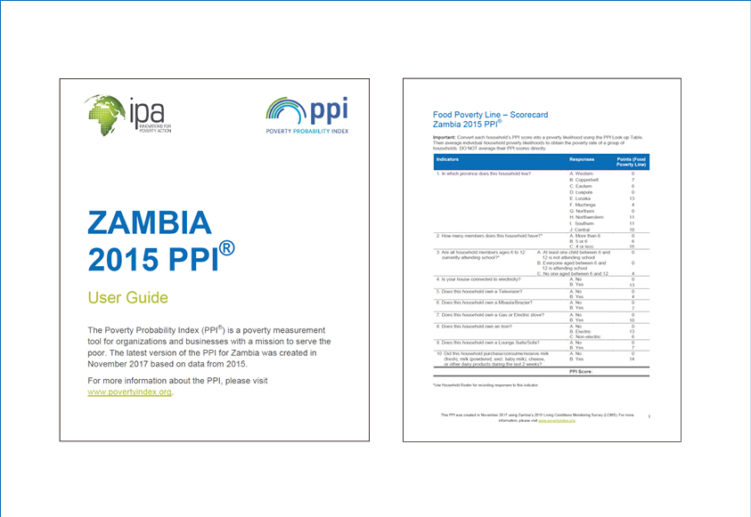 Zambia 2015 PPI User Guide